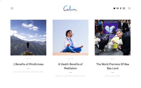 Calm Blog