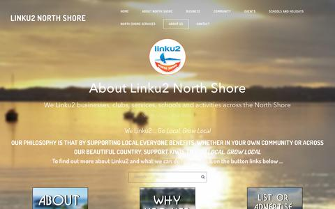 Screenshot of About Page linku2northshore.co.nz - About Linku2 North Shore - Linku2 North Shore - captured Dec. 10, 2017