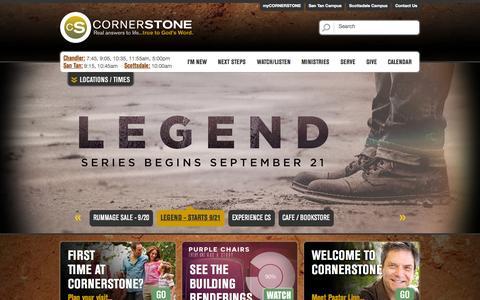 Screenshot of Home Page cornerstoneonline.com - Cornerstone Online - captured Sept. 19, 2014