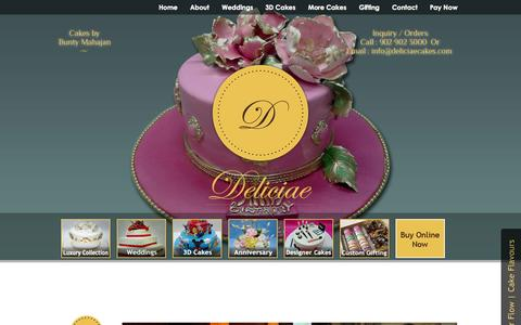 Screenshot of Home Page deliciaecakes.com - Cake Shop In Mumbai, Buy Or Order Online Custom Cakes & Pastries � Deliciae Cakes - captured Jan. 23, 2015