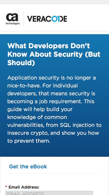 What Developers Don't Know About Security eBook   Veracode