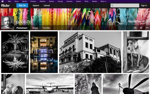 Screenshot of Flickr Page flickr.com - Flickr: p3ob7o's Photostream - captured Oct. 28, 2014