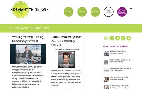 Screenshot of Blog deviantthinking.com - THE DEVIANT THINKING BLOG   Deviant Thinking™ - captured Oct. 9, 2018