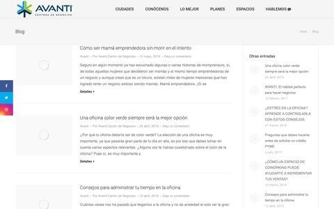 Screenshot of Blog centrosavanti.com - Conoce nuestras oficinas corporativas en renta | Centros Avanti - captured May 17, 2019