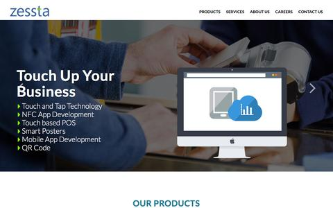 Screenshot of Home Page zessta.com - Zessta | Software Services Pvt. Ltd - captured Feb. 13, 2016