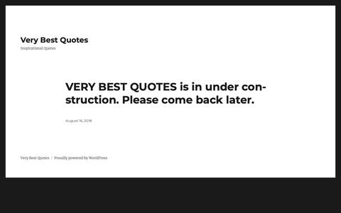 Screenshot of Home Page verybestquotes.com - Very Best Quotes – Inspirational Quotes - captured Oct. 19, 2018