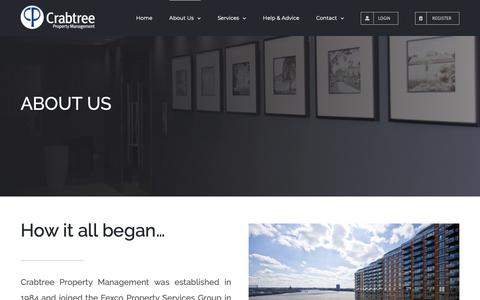 Screenshot of About Page crabtreeproperty.co.uk - About Us – Crabtree PM Ltd - captured Sept. 30, 2018