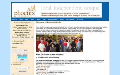 Screenshot of About Page phoenixbooks.biz - Welcome to Phoenix Books | Phoenix Books - captured Nov. 5, 2014