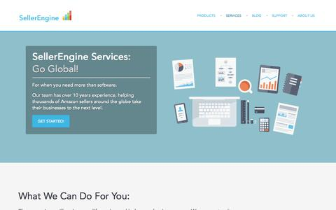 Screenshot of Services Page sellerengine.com - Services | SellerEngineSellerEngine - captured Sept. 25, 2014