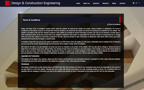 Screenshot of Terms Page dec.ae - Design & Construction Engineering - Terms of Service - captured Oct. 5, 2014