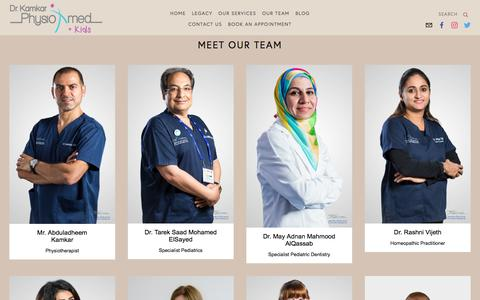 Screenshot of Team Page drkamkar.com - Our Team — Dr. Kamkar - captured Oct. 13, 2017