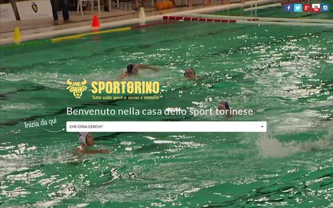 Screenshot of Home Page sportorino.com - SporTorino - Tutto lo sport a Torino e dintorni - captured Nov. 18, 2015