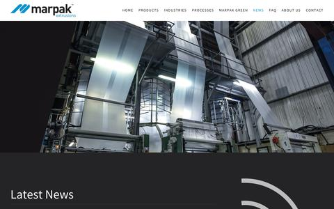 Screenshot of Press Page marpak.co.uk - News - Marpak - captured Oct. 17, 2017