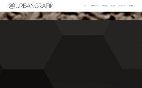 Screenshot of Home Page urbangrafik.com - URBANGRAFIK - captured Sept. 30, 2014