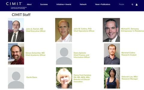 Screenshot of Team Page cimit.org - CIMIT People - CoLab - captured July 20, 2017