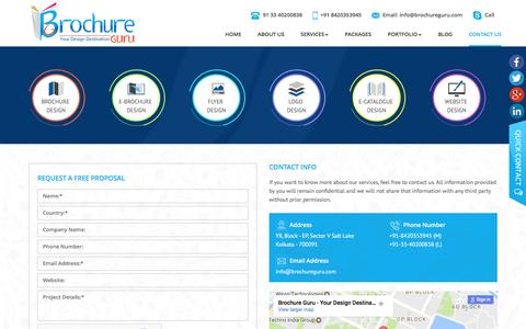 Contact Brochure Guru, for Professional Brochure Design Services