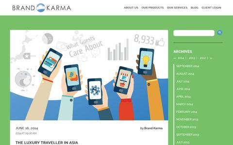 Screenshot of Home Page brand-karma.com - Brand Karma - captured Sept. 22, 2014