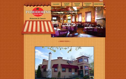 Screenshot of Contact Page Locations Page pomodorino.com - Pomodorino Restaurant & Caterers, Italian Restaurants Huntington, Italian Catering Huntington - captured June 20, 2016