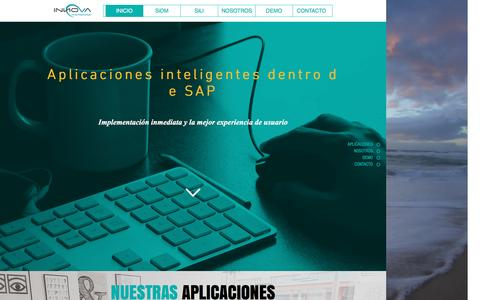 Screenshot of Login Page innovainternacional.biz - Aplicaciones para SAP - captured July 21, 2016