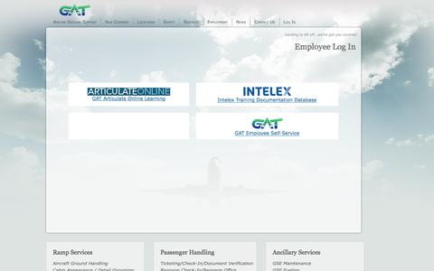 Screenshot of Login Page gatags.com - GAT Airline Ground Support News - captured Sept. 25, 2018