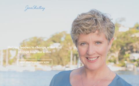 Screenshot of Home Page jennshallvey.com - Jenn Shallvey - captured July 16, 2015