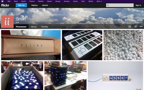 Screenshot of Flickr Page flickr.com - Flickr: smiirl's Photostream - captured Oct. 25, 2014