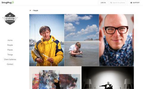 Screenshot of Team Page smugmug.com - People - Karson Photography - captured Sept. 20, 2018