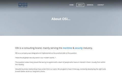 Screenshot of About Page maritime-sicherheit.net - About - OSI Maritime Sicherheit - captured Nov. 3, 2014