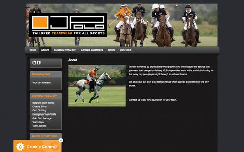 Screenshot of About Page ojpolo.com - About OJPolo - captured Nov. 5, 2014