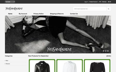Screenshot of Home Page olgamacin.com - Yves Saint Laurent Bags Sale At Big Discount - Up To 69% | Get Coupons And Discounts From Yves Saint Laurent Shop - captured Sept. 20, 2018