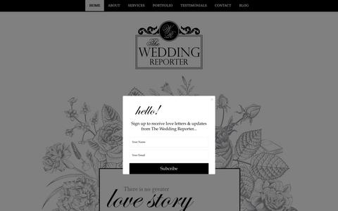 Screenshot of Home Page the-weddingreporter.co.uk - HOME - The Wedding Reporter - captured March 18, 2016