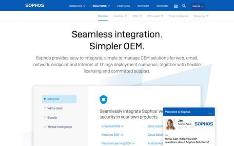 OEM Security Software | Seamless Integration for OEM Partners | Sophos Data Protection