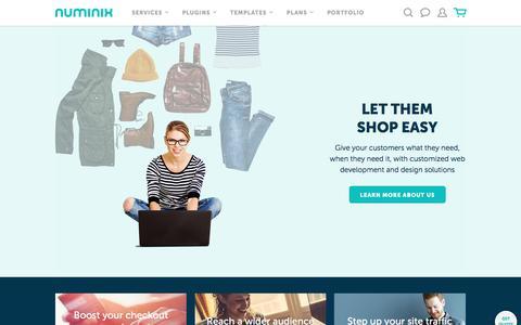 Screenshot of Home Page numinix.com - Zen Cart & Ecommerce Web Development - Home | Numinix - captured April 20, 2017