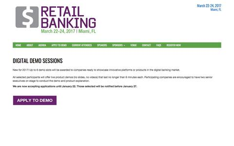 Disrupt Demos | Retail Banking Conference