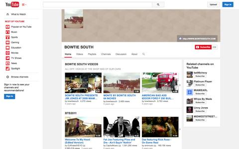 Screenshot of YouTube Page youtube.com - BOWTIE SOUTH  - YouTube - captured Oct. 23, 2014