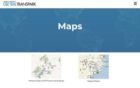 Screenshot of Maps & Directions Page ncgtp.com - North Carolina Global TransPark: Maps - captured Nov. 16, 2018