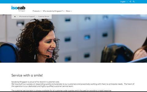 Screenshot of Support Page isocab.com - Customer Service | Isocab - captured Sept. 20, 2018