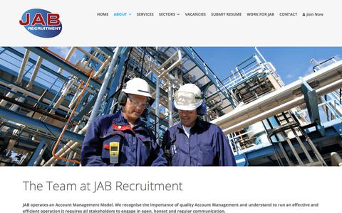 Screenshot of Team Page jab-recruitment.com - Team – JAB Recruitment - captured July 18, 2018