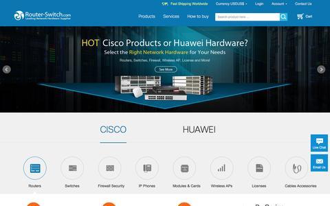 Screenshot of Home Page router-switch.com - Cisco Router, Cisco Switch, New Used Cisco Prices Comparison - captured Nov. 6, 2016