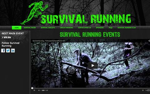 Screenshot of Home Page survival-running.co.uk - Survival Running - captured Oct. 7, 2014