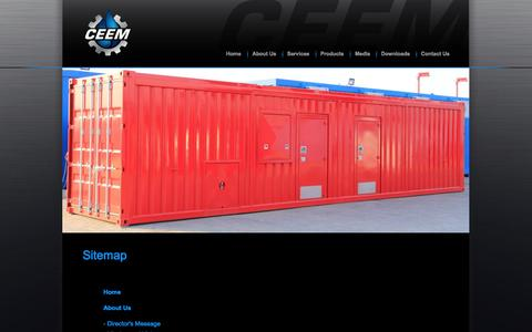 Screenshot of Site Map Page ceemfze.ae - Sitemap - captured Oct. 1, 2014