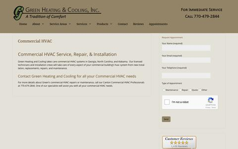 Commercial HVAC by Green Heating and Cooling - Canton, GA