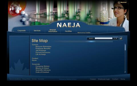 Screenshot of Site Map Page naeja.com - NAEJA - captured Oct. 7, 2014