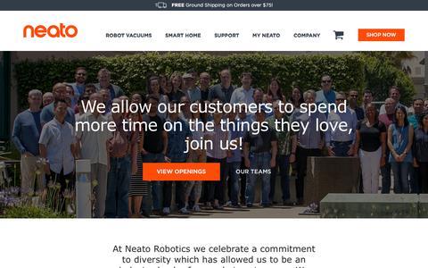 Screenshot of Jobs Page neatorobotics.com - Career Opportunities | Neato Robotics - captured July 29, 2019
