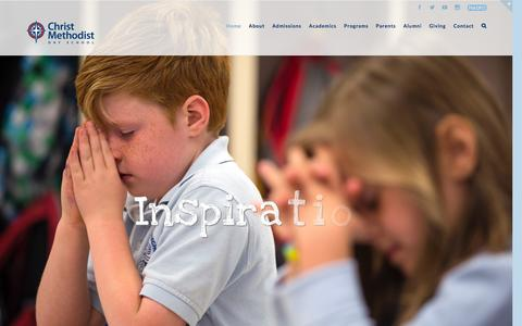 Screenshot of Home Page cmdsmemphis.org - Christ Methodist Day School – Devotion to Direction - captured Jan. 27, 2016