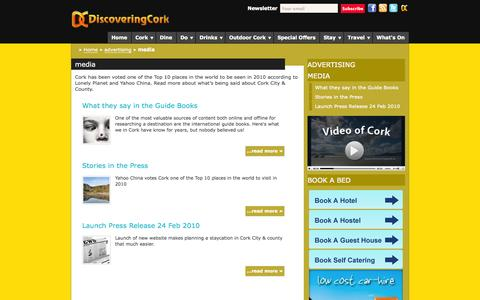 Screenshot of Press Page discoveringcork.ie - News stories about Cork City and Count in Ireland - Discoveringcork.ie - captured Sept. 30, 2014