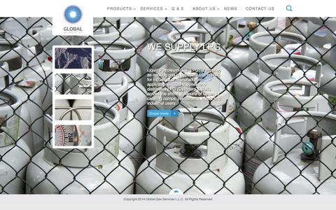Screenshot of Home Page ggsoman.com - Global Gas - captured Oct. 3, 2014