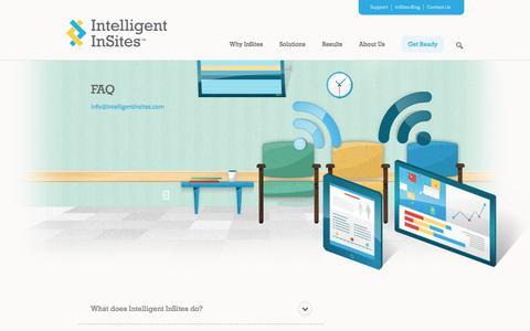 Screenshot of FAQ Page intelligentinsites.com - FAQ | Intelligent InSites - captured Sept. 16, 2014