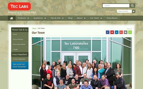 Screenshot of Team Page teclabsinc.com - Our Team| Tec Labs - captured Oct. 20, 2017