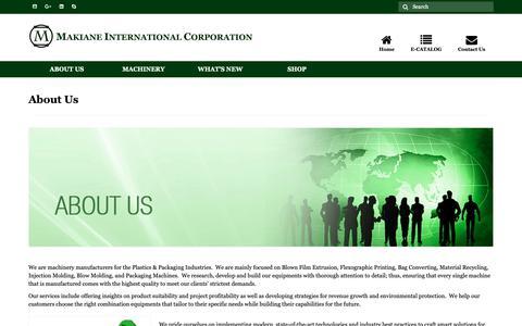 Screenshot of About Page makiane.com - About Us - Makiane International Corp. - captured Oct. 1, 2018